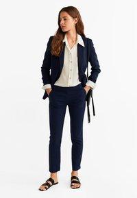 Mango - TEA - Pantalon classique - dark navy blue - 1