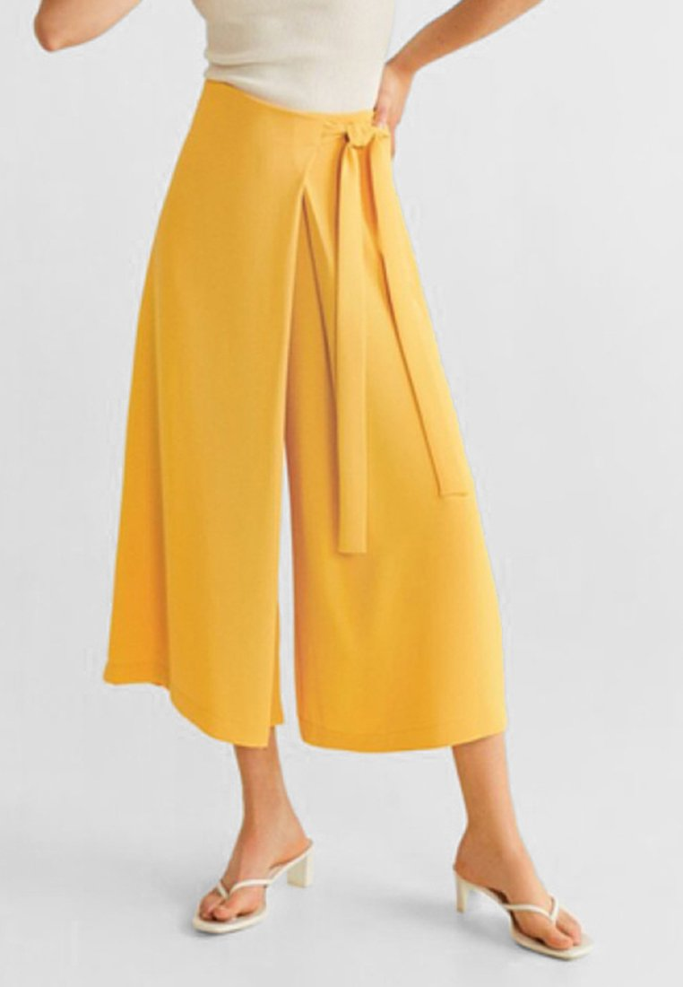 Mango - LAURA - Trousers - mustard