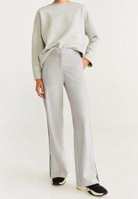 Mango - ALFA - Trousers - grey - 0