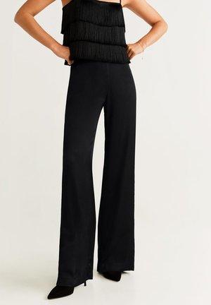 PALAZZO - Spodnie materiałowe - black