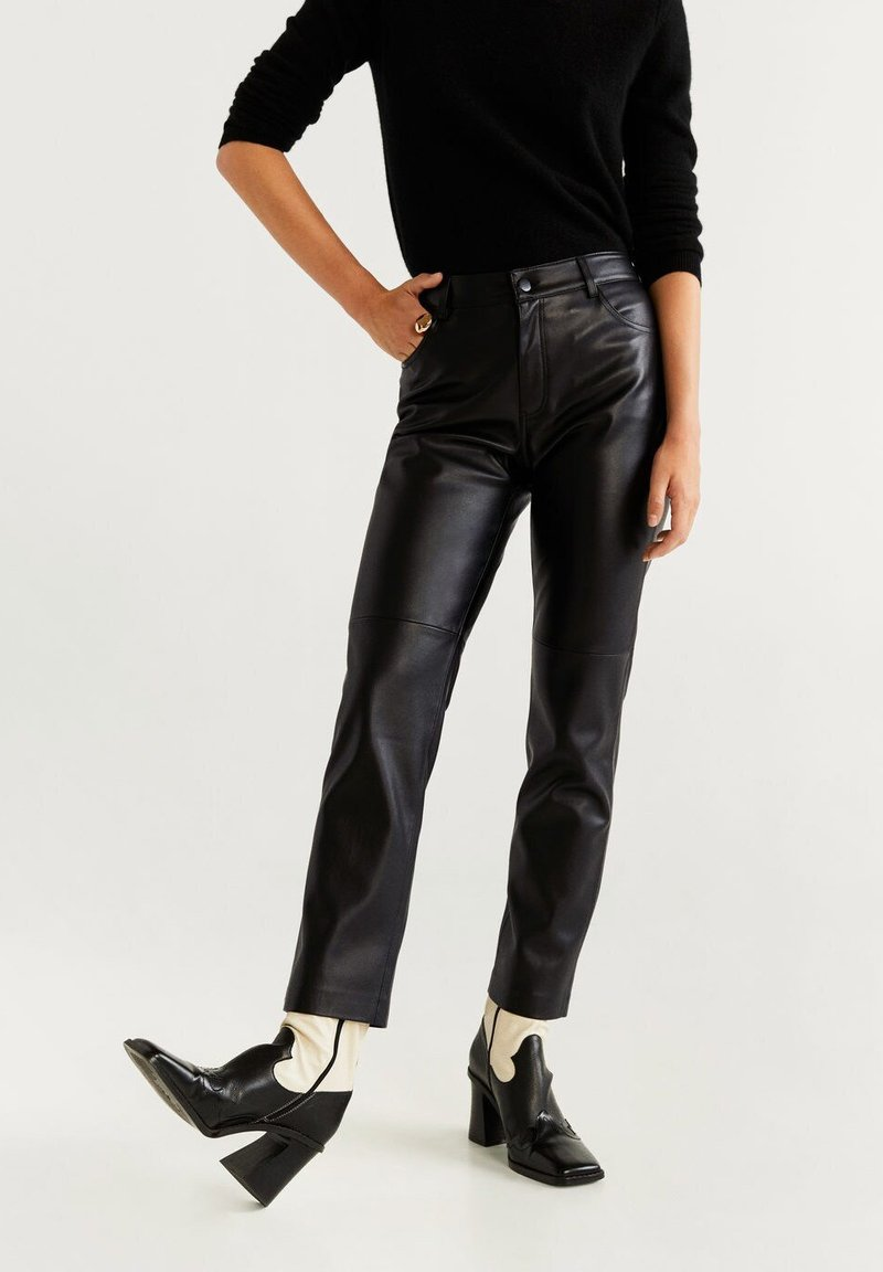 Mango - LILLE - Trousers - black