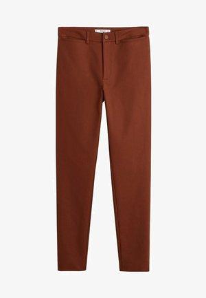 ISLAND - Pantalon classique - orange brown