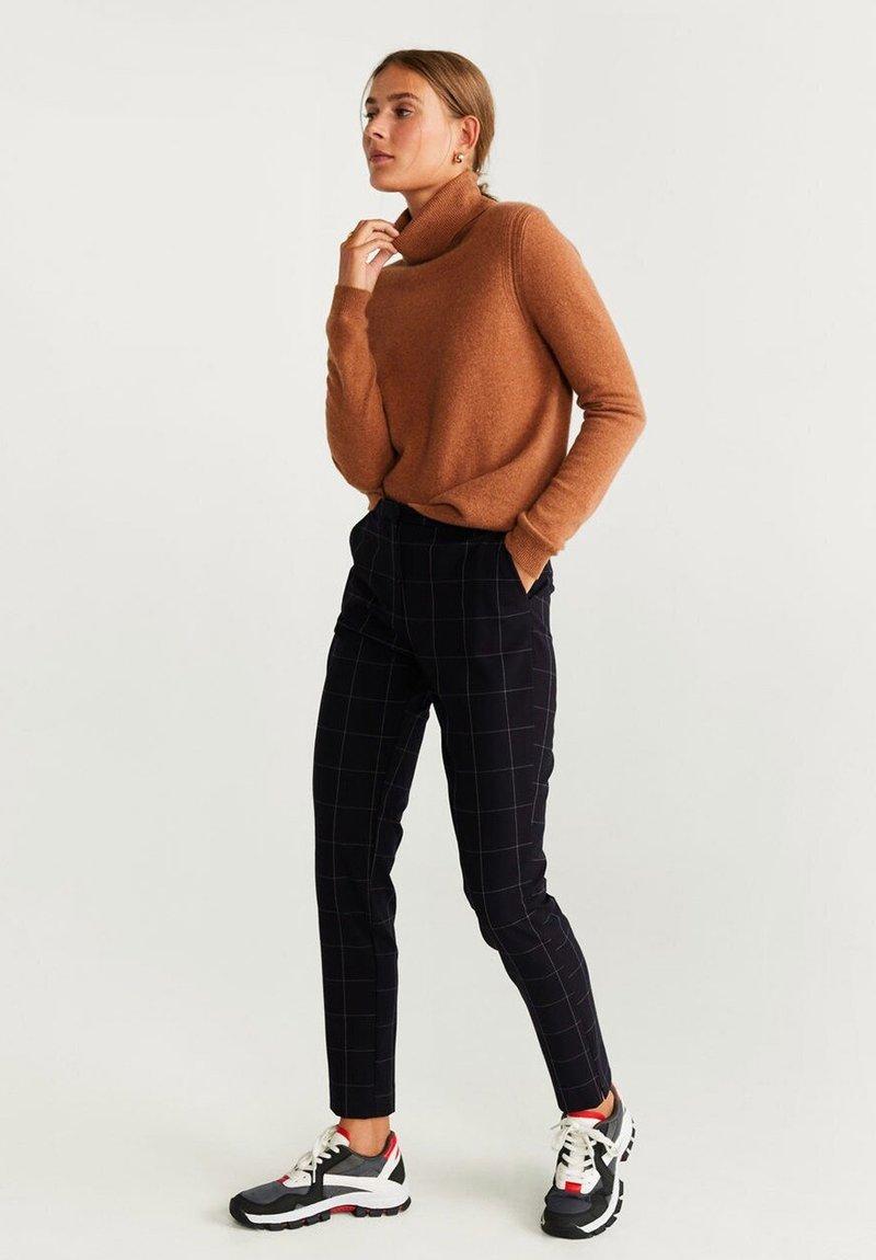 Mango - WINDOW - Trousers - dark navy blue