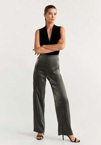 Mango - STUDIO - Pantalones - dark grey - 1