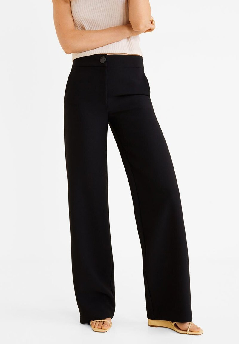 Mango - SIMON - Trousers - black