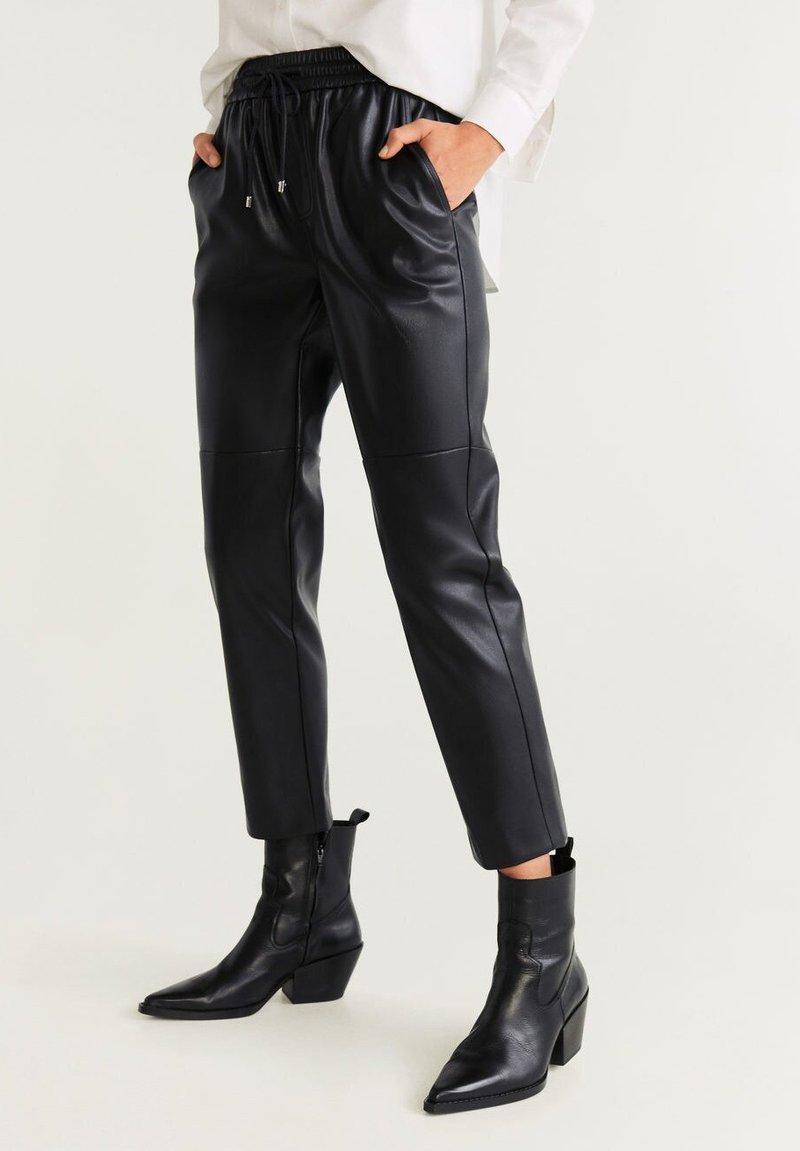 Mango - APPLE - Trousers - black