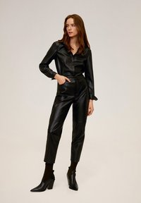 Mango - WANTED - Trousers - black - 1