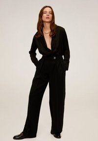 Mango - SIMOI - Spodnie materiałowe - black - 1