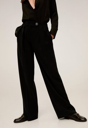 SIMOI - Trousers - black