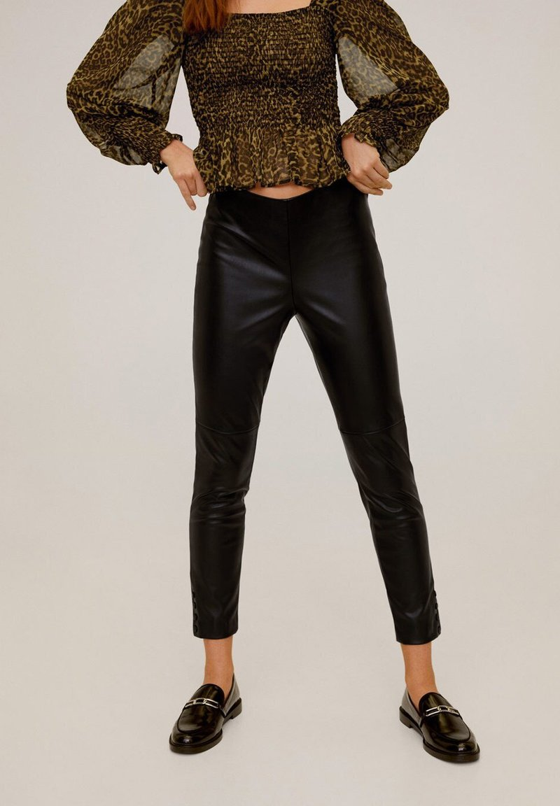 Mango - LONDONPU - Pantalon classique - black