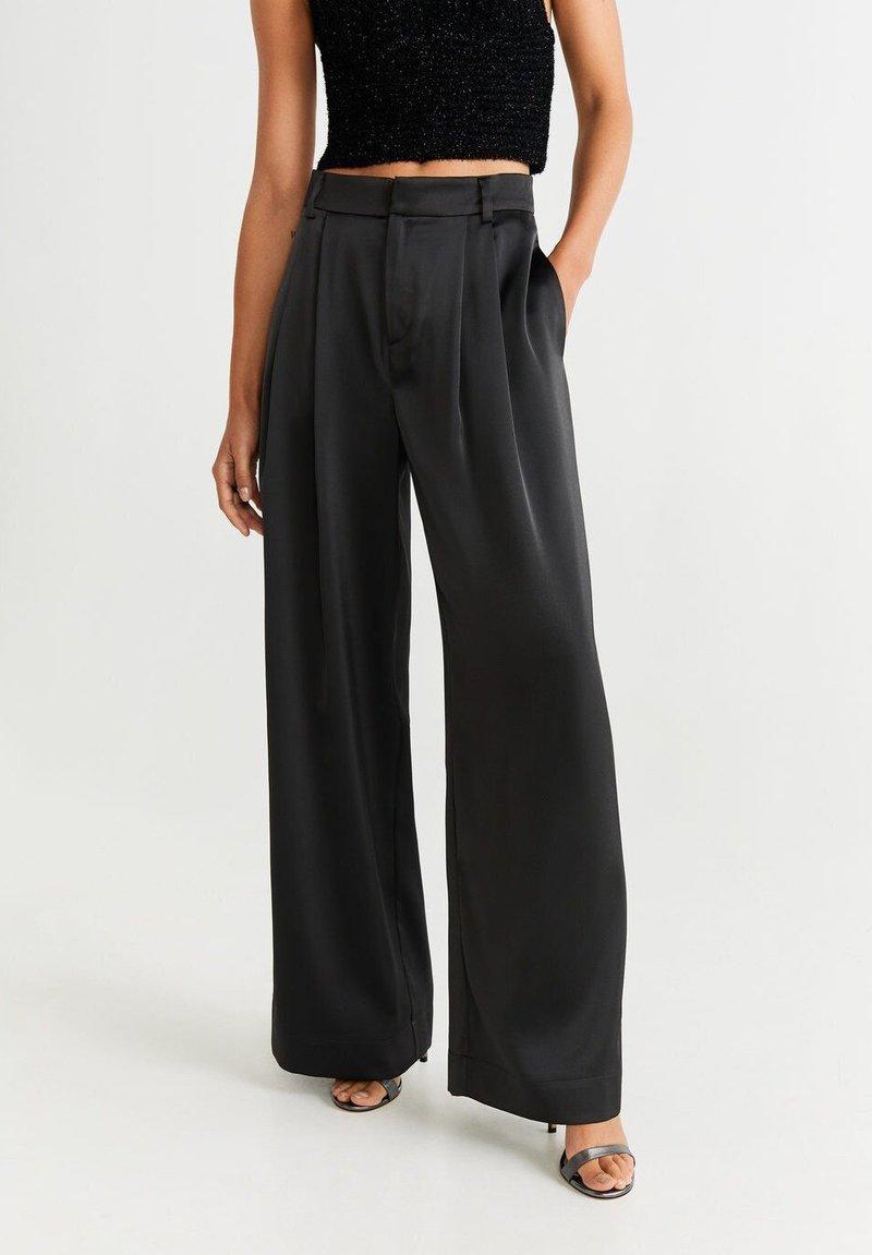 Mango - SATI - Pantalones - schwarz