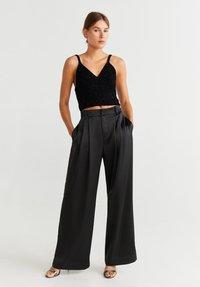 Mango - SATI - Pantalones - schwarz - 1