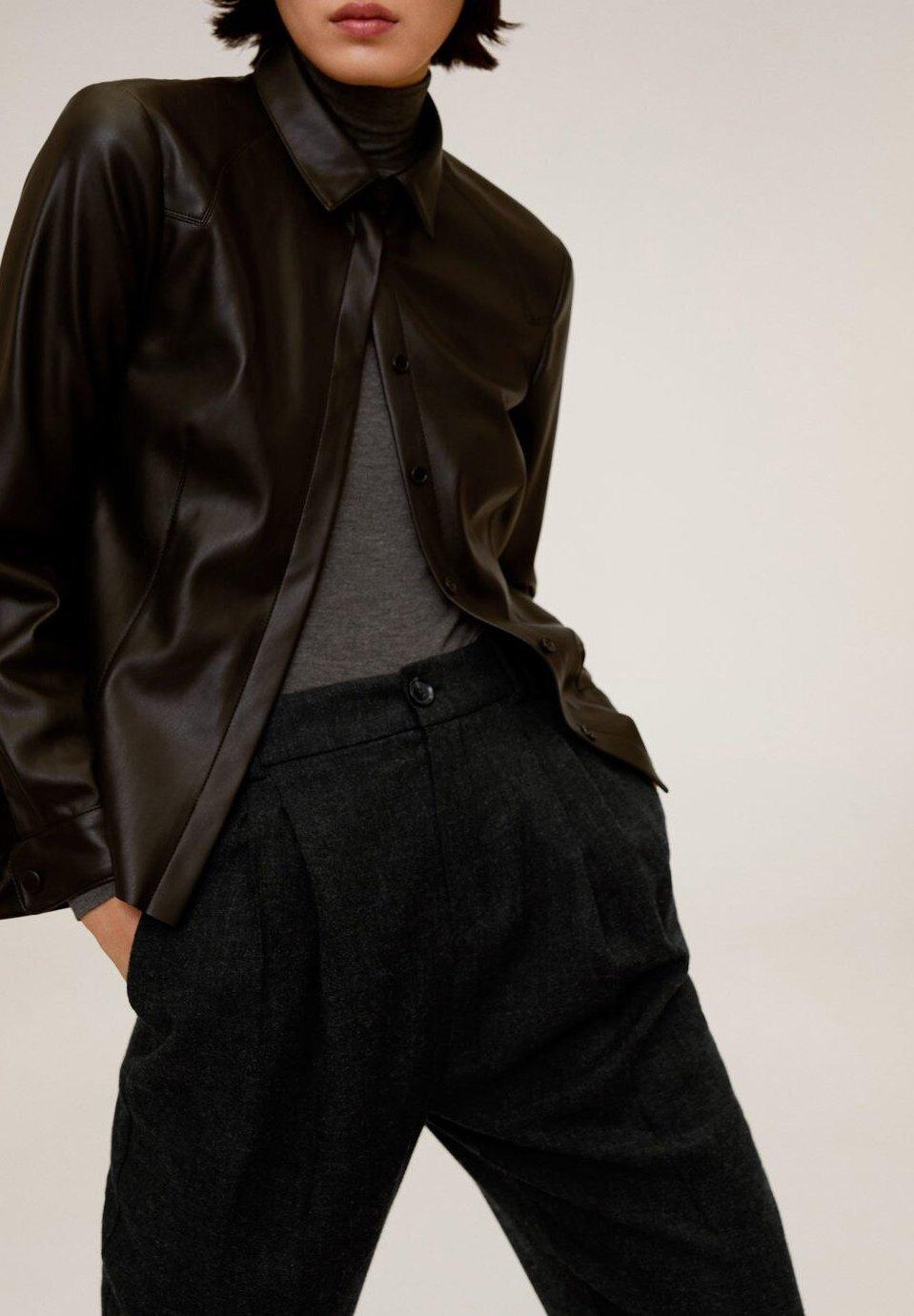 Mango LANA - Spodnie materiałowe - grau