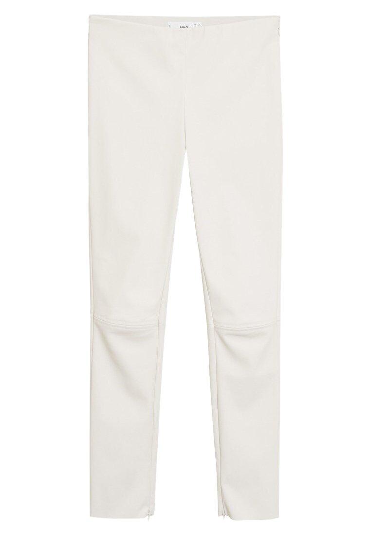Mango LOGO - Spodnie materiałowe - cremeweiß