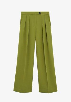 PALAZZO-HOSE - Spodnie materiałowe - olivengrün
