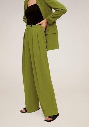 OTRO - Spodnie materiałowe - olivengrün
