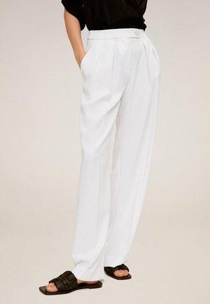PALAZZO-HOSE - Spodnie materiałowe - weiß