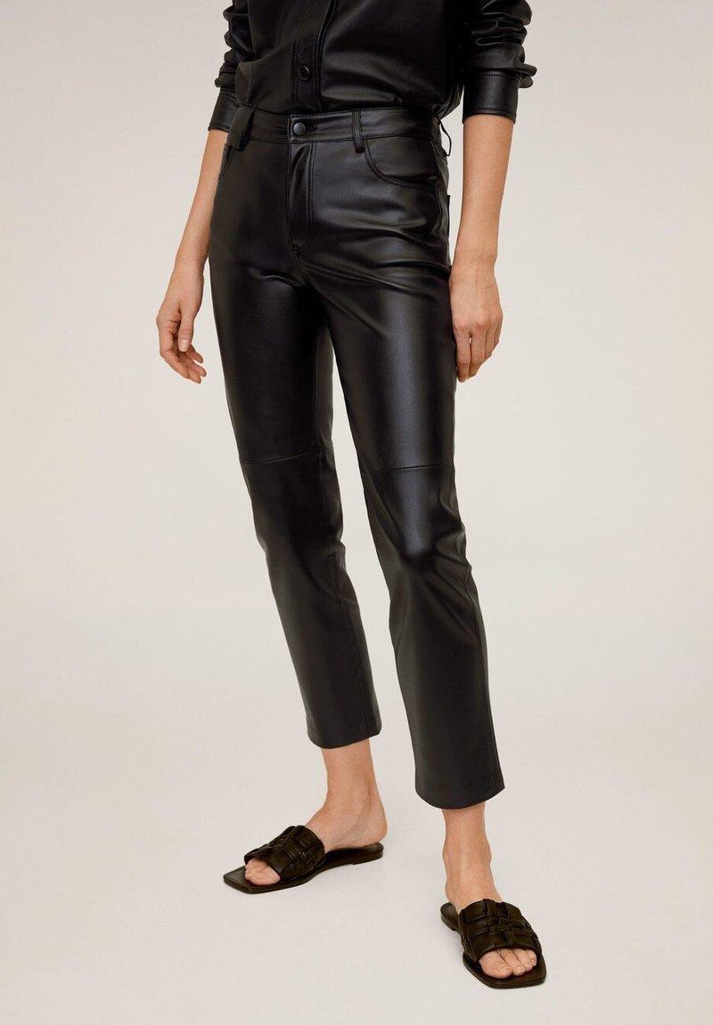 Mango - LILLE - Trousers - schwarz