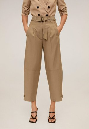 TOBACCO - Trousers - mittelbraun