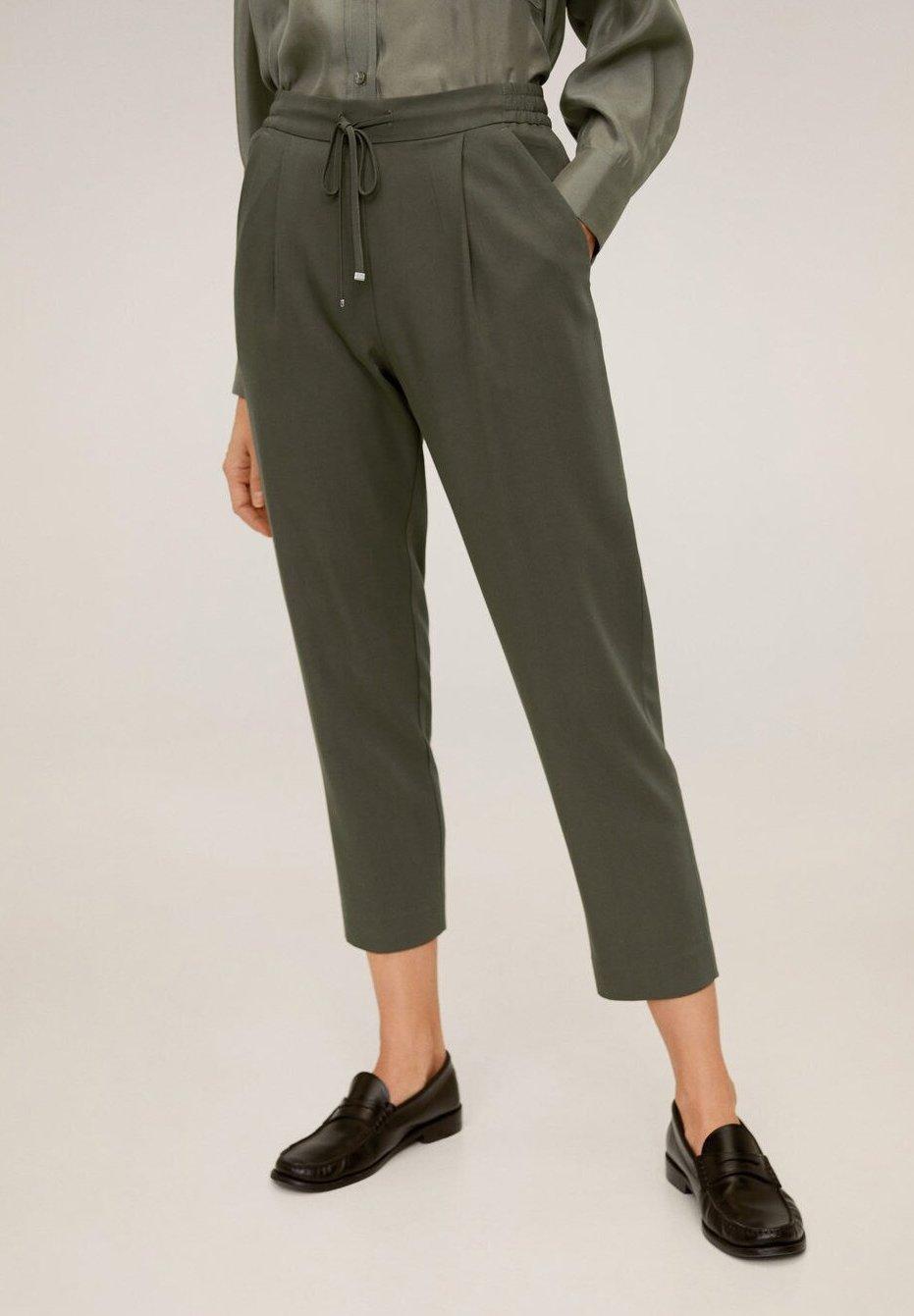Mango FLUIDO - Spodnie materiałowe - khaki
