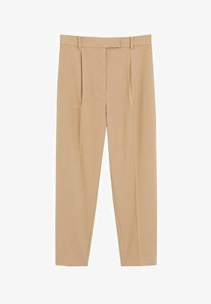 MELCHOR - Spodnie materiałowe - mittelbraun