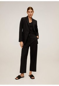 Mango - OFFICE - Trousers - schwarz - 1