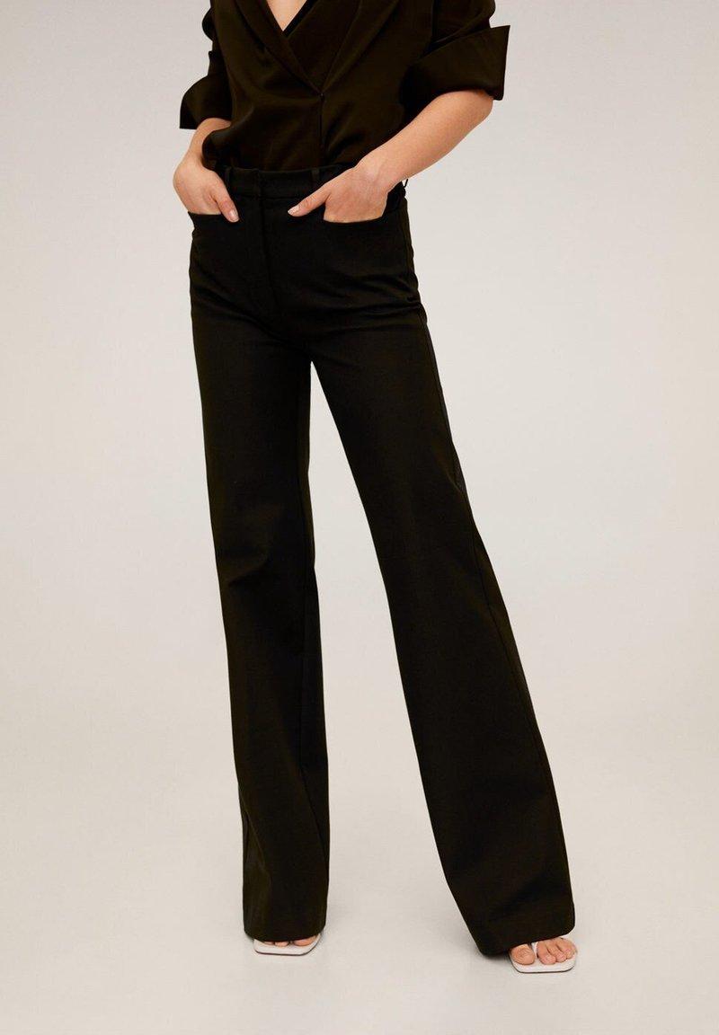 Mango - MIRANDA - Spodnie materiałowe - schwarz