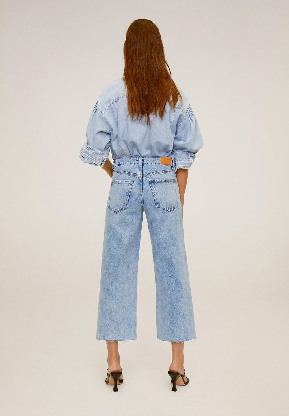 Mango CULOTTE  - Jeansy Relaxed Fit - middenblauw