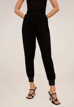 SOFTY - Tracksuit bottoms - schwarz