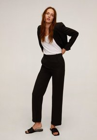 Mango - LAMU-I - Trousers - black - 1