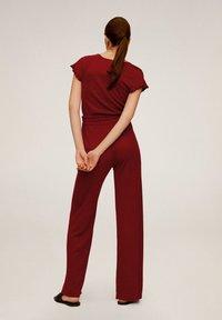 Mango - LINEN - Spodnie materiałowe - rot - 2