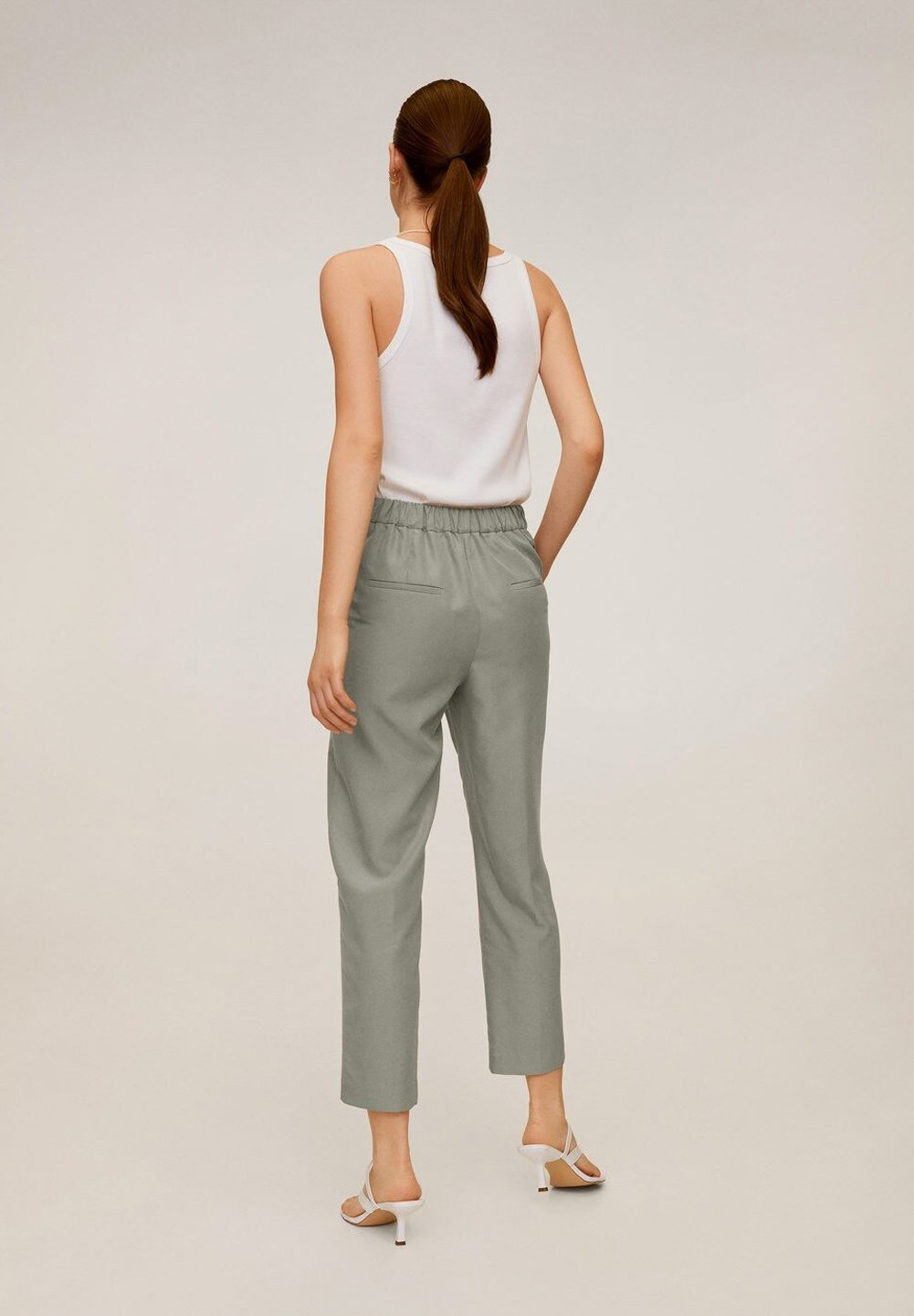 Mango Tempo - Pantalon Classique Pastellgrün