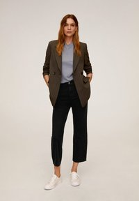 Mango - Trousers - black denim - 1