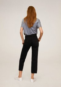 Mango - Stoffhose - black denim - 2