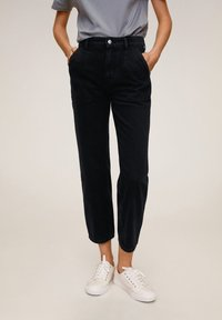 Mango - Stoffhose - black denim - 0