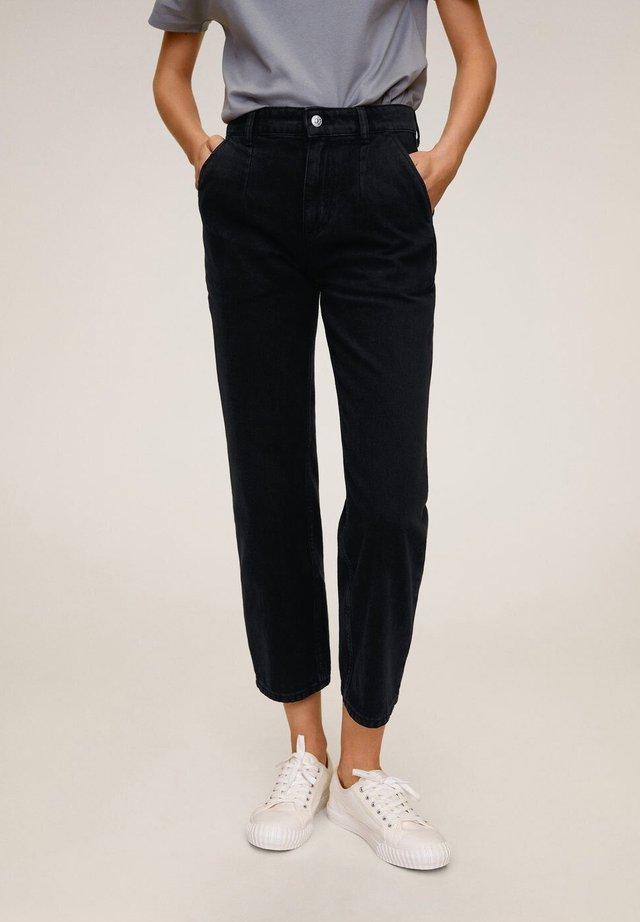 Trousers - black denim