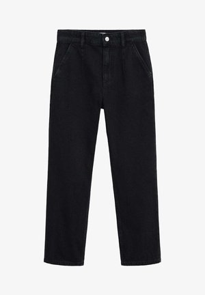 Trousers - black denim