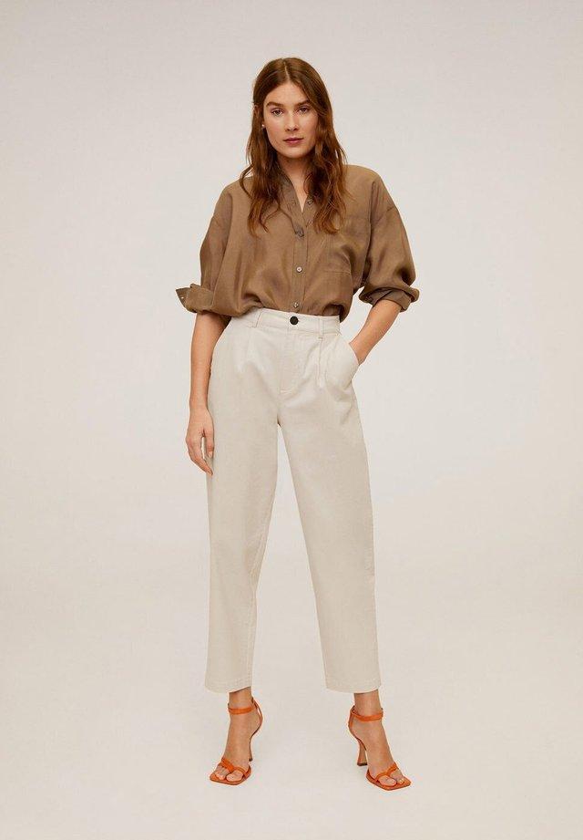 BERLINA - Spodnie materiałowe - ecru