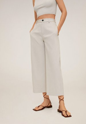 WIDE - Spodnie materiałowe - hellgrau/pastellgrau