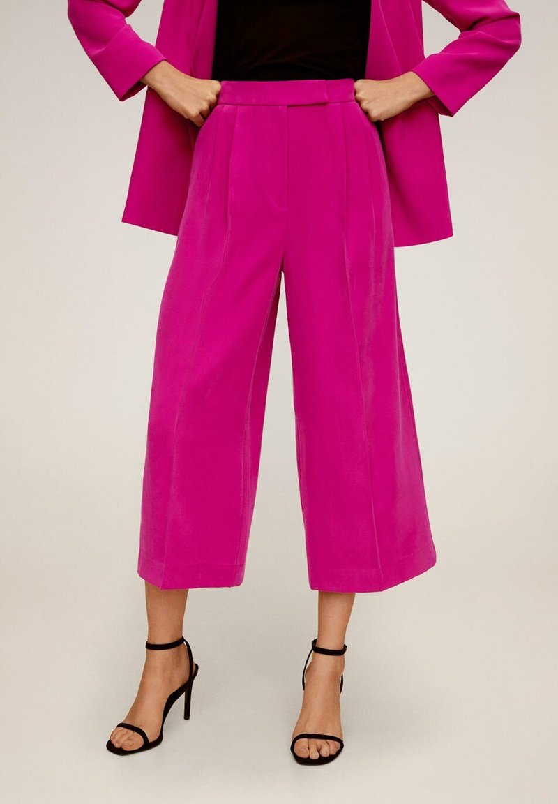 Mango - TEMPITO - Spodnie materiałowe - fuchsia