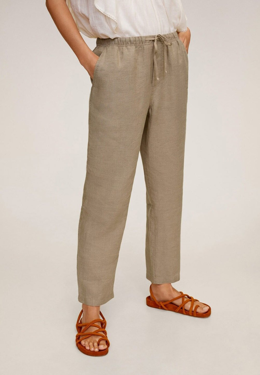 Mango Spodnie materiałowe - marrone medio