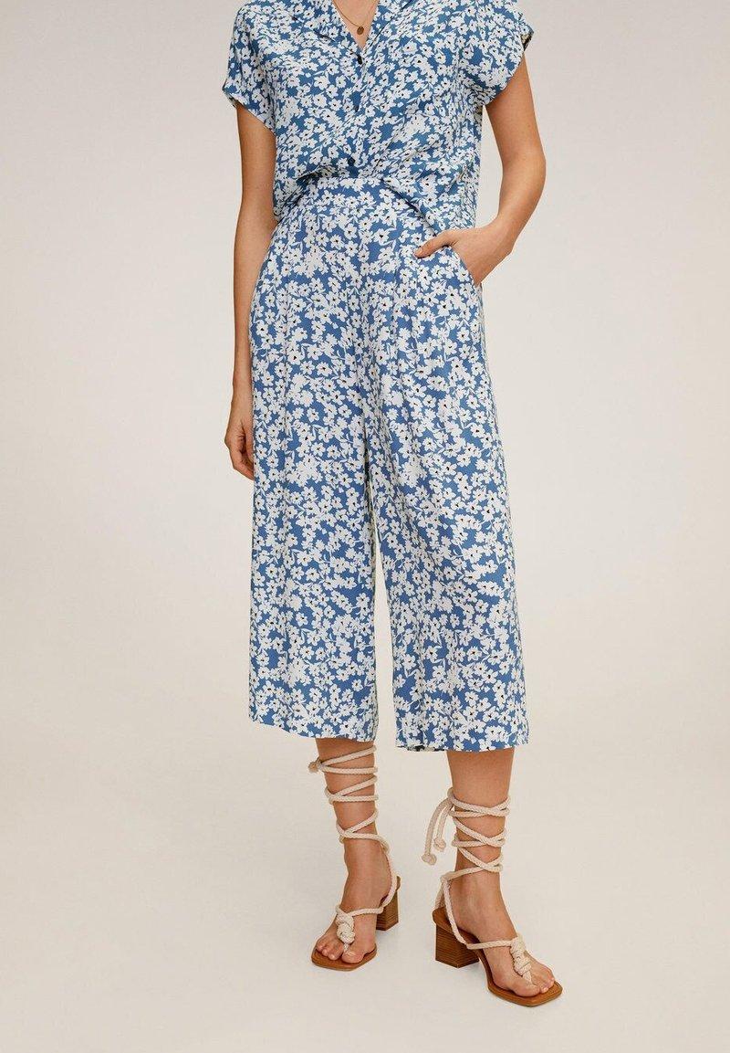 Mango - LIFE - Spodnie materiałowe - blau