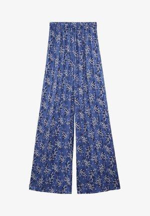 MIT BLUMENMUSTER - Bukser - blau