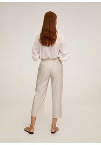 Mango - WAVE - Spodnie materiałowe - beige - 2