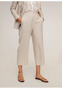Mango - WAVE - Spodnie materiałowe - beige - 0
