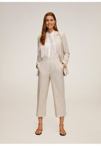 Mango - WAVE - Spodnie materiałowe - beige - 1