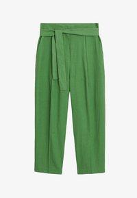 Mango - LEINEN IN 7/8-LÄNGE - Spodnie materiałowe - grün - 5