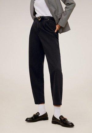 REGINA - Spodnie materiałowe - black denim