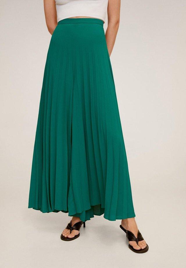 PLISSIERTE PALAZZOHOSE - Tygbyxor - smaragdgrün