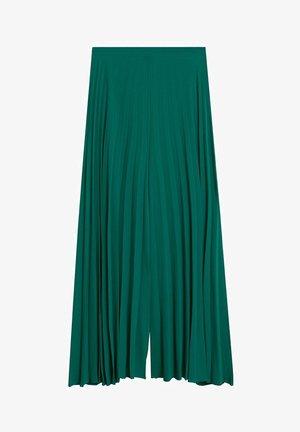 PLISSIERTE PALAZZOHOSE - Pantalon classique - smaragdgrün